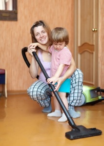 NSP vacuuming w: mom